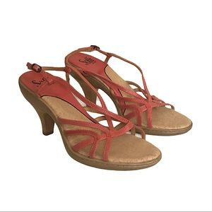 Sofft Melon Strappy Heeled Sandals Size 8 1/2 W